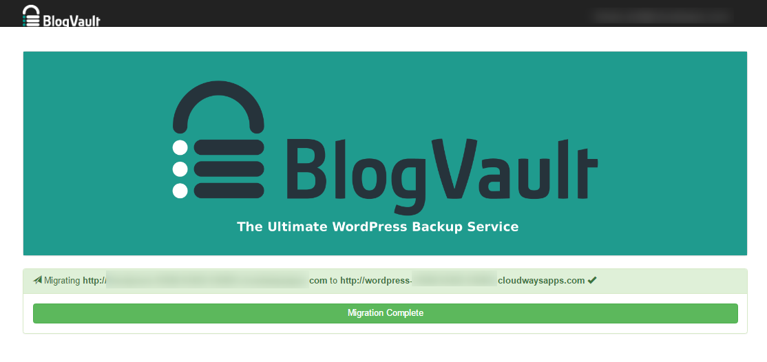 Migrator BlogVault Migrated