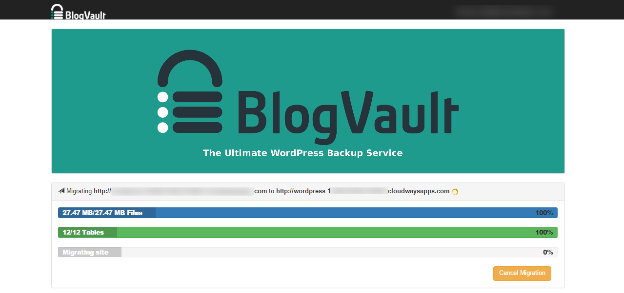 Migrator BlogVault Migrating